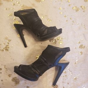 3 FOR 30 Jessica Simpson 9 Black Strappy Mesh Heel